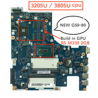 100% New mother board for Lenovo G50 80 ACLU3/ACLU4 NM A361 Notebook Motherboard pc with 3205U 3805U cpu R5 M330 2GB
