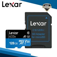 2019 original lexar 95 mb/s 633x micro cartão sd 128 gb leitor de cartão memória Uhs-1 para zangão gopro dji esporte filmadora