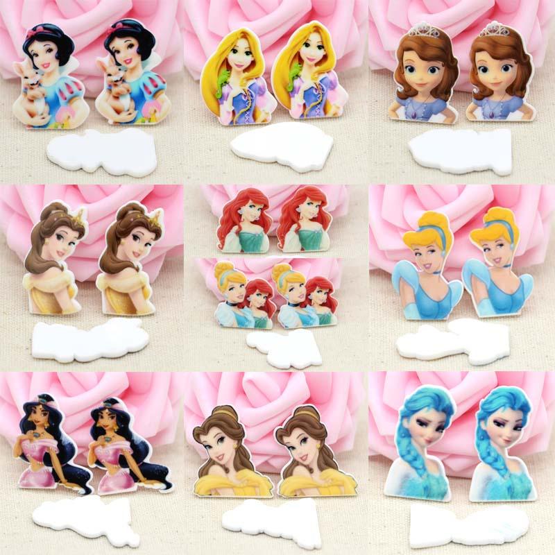50pcs/Lot Cute Princess Snowwhite Cinderella Planar Resin Flatback Cabochons Cartoon Flat Back DIY Hairbow Home Decor Accessory-in Figurines & Miniatures from Home & Garden on Aliexpress.com | Alibaba Group