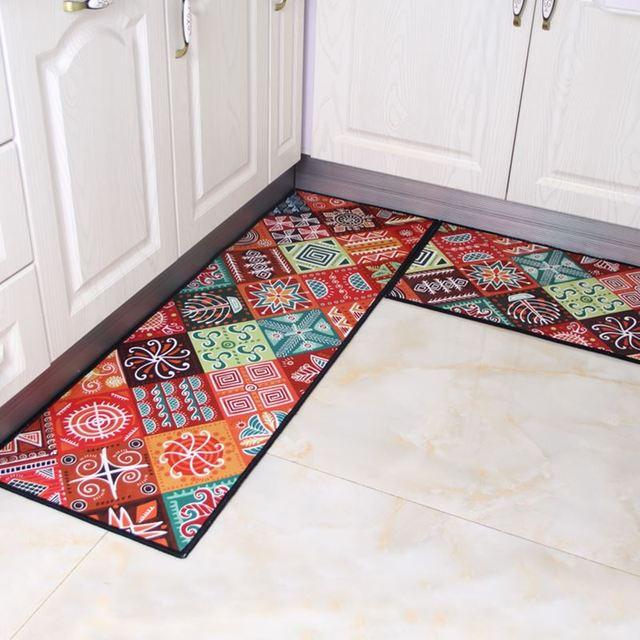 2 Pcs Anti Slip Lantai Karpet Dapur Tikar Yang Modern Set Ruang Balkon R Mandi