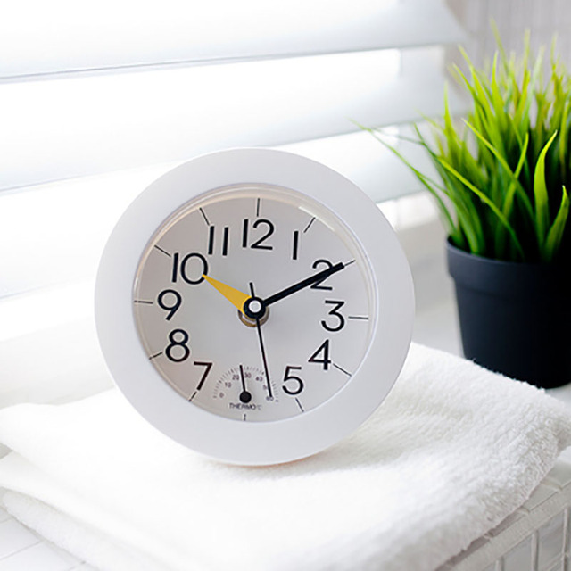European Wall Clock Modern Design Quartz Clock Waterproof Bathroom