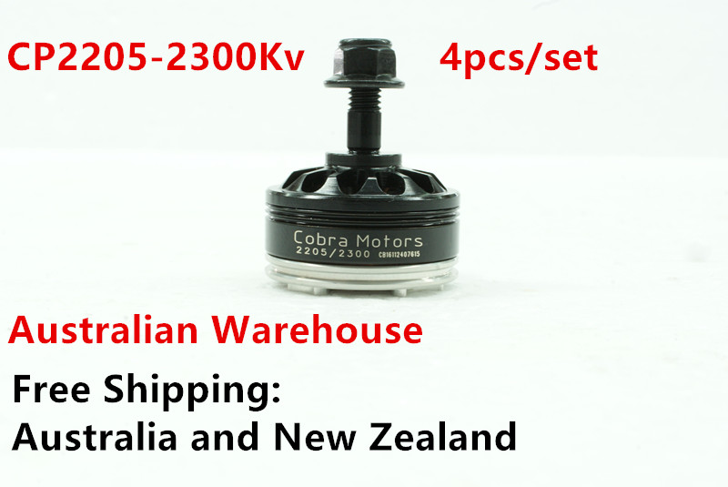 Australia warehouse Champion CP2205-2300Kv, 4pcs/Set  Brushless Motor,  Free Shipping  for FPV racing, Mini quad racing