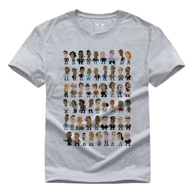 Новый Провод O-образным Вырезом Повседневная футболка С Коротким Рукавом Для мужчины Футболка для Gameplayer Мужчина Женщина футболки Белый Серый XS-XXL