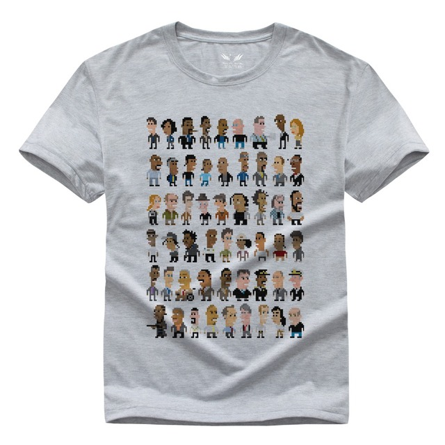 Novo O Fio O-pescoço camisa Ocasional T de Manga Curta Para homens T-shirt para o Homem Gameplayer t Mulher Branco Cinza XS-XXL