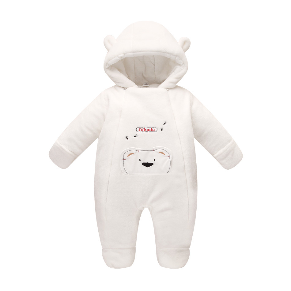 Newborn baby clothes bear onesie baby girl boy rompers hooded plush jumpsuit winter overalls for kids roupa menina down cotton baby winter overalls kids boy hooded baby clothing girl newborn romper long sleeve jumpsuit solid zipper baby onesie