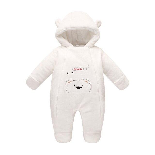 a3e6121f9 Ropa de bebé recién nacido oso onesie bebé niña mamelucos capucha mono de  peluche invierno trajes