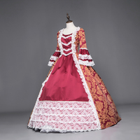 Victorian Queen Marie Antoinette Boll Gown Carnival Dress Gothic Halloween Costumes