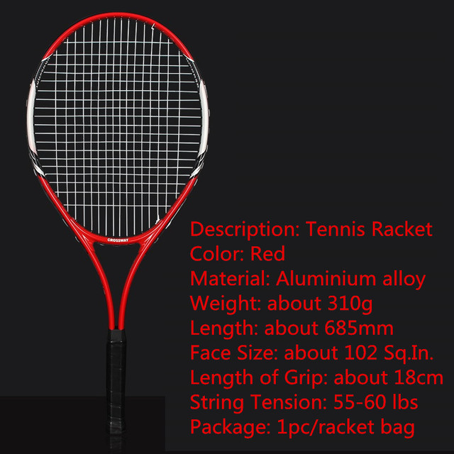1 Pcs Popular Training Tennis Racket Aluminum Alloy Racquet with Bag for Men And Women New Beginners with free Carry Bag