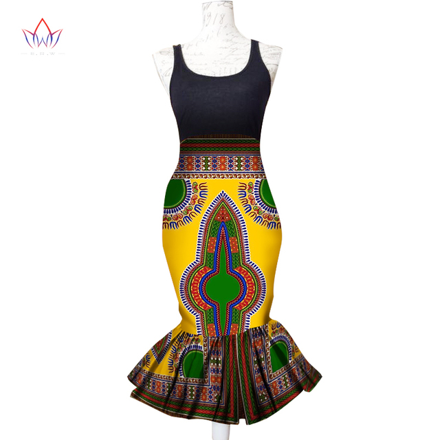 1f9e772605 Summer Women Clothing New Designs African Clothes for Women African Print Skirts  Midi Skirt Trumpet Mermaid Print Skirts WY1352