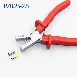 PZ0.25-2.5 Mini małe izolowane i nieizolowane tuleje szczypce zaciskowe Ternimals końcówka kabla do zaciskania-rękawy 0.25-2.5mm2