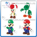 Mini Qute QCF 4 styles 3D game super mario Toad Luigi Yoshi diamond plastic model building blocks figures educational toy