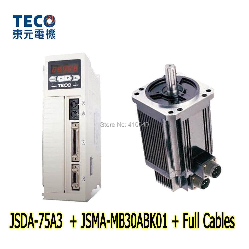 все цены на Free Shipping by DHL TECO 3KW Servo Motor JSMA-MB30ABK01 and Servo Motor Drive JSDA-75A3 with 42.96 Peak Torque онлайн
