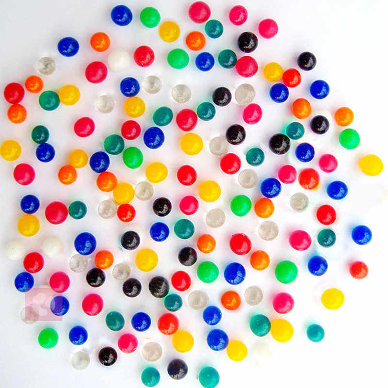 200 Pcs/lot 2-3MM crystal soil weeding decoration Orbeez Soft Crystal Water Paintball Grow Water Beads Grow Balls Water Gun Toys