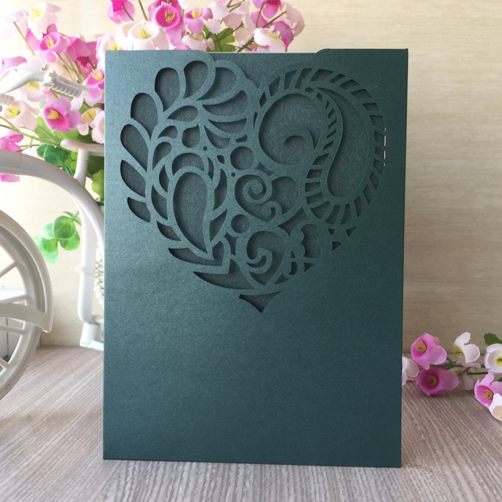30pcs Birthday Engagement Wedding Invitations Card Hollow Lace ...