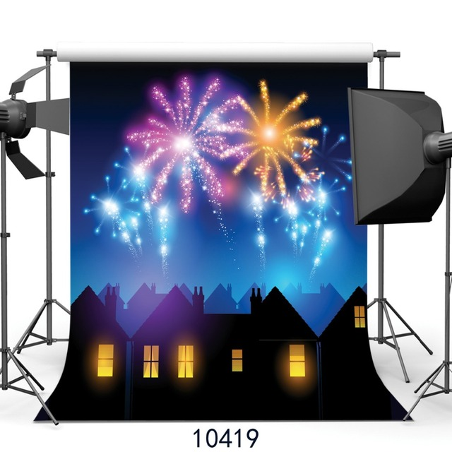 new year night fireworks photography background 3x3m photography studio backdrop fond studio photo vinyle