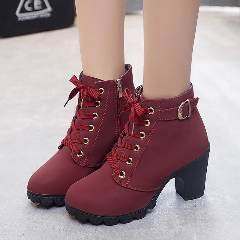 2ee8b02829b4 Women Shoes 2018 New Women Pumps High Heels Ladies Shoe PU Sequined High  Heels Shoes women Winter Boots Women zapatos de mujer