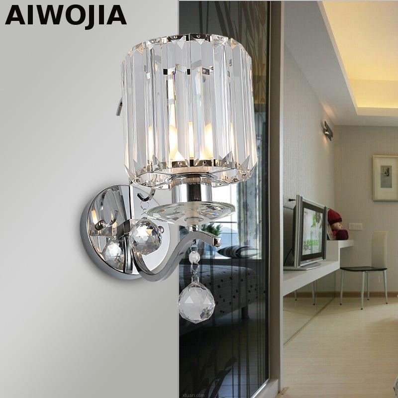 Crystal Wall Light Living Light Applique Murale Luminaire Loft Wall Lights For Home Iron Pipe Lamp Indoor Lighting Lamps цена 2017
