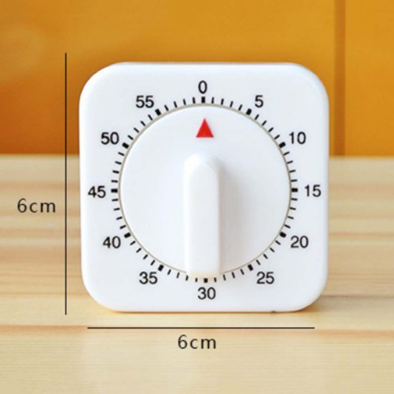 Novelty White Square 60 Minute Mechanical Timer Reminder Counting Count  Down Alarm Clock For Kitchen AA In Kitchen Timers From Home U0026 Garden On ...