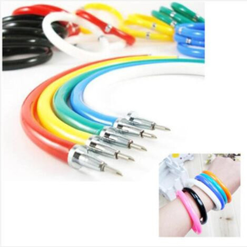 10 Pieces/Batch, Arbitrarily Bent Bracelet Ballpoint Pen Novelty Flexible Office Children'S Writing Gift Student Stationery