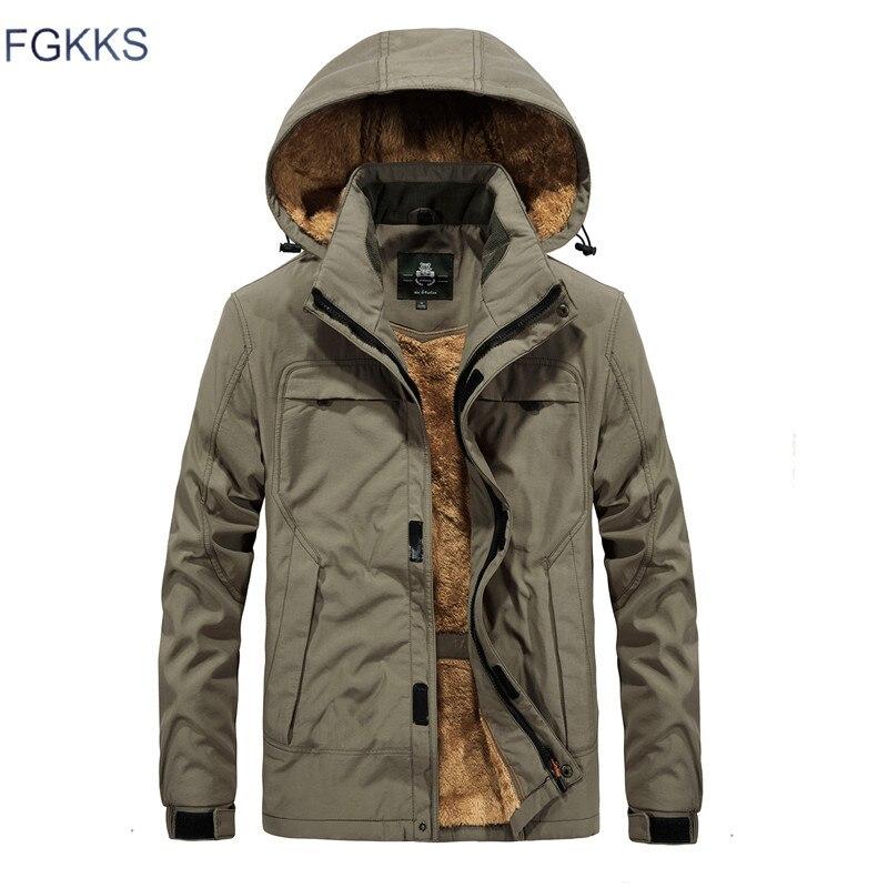 FGKKS męska kurtka z kapturem zima marka wojskowy mężczyźni wodoodporne ubrania męskie wiatrówka płaszcz kurtki męskie w Kurtki od Odzież męska na AliExpress - 11.11_Double 11Singles' Day 1