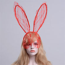 Children Adult Bunny Ear Headband Set Black Red White Fancy Dress Costume Hen Party Big Rabbit Hairbands Headwear Masquerade