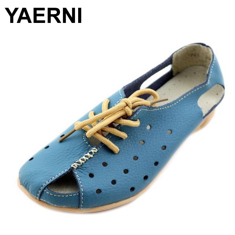 YAERNI Split Leather Sandals Summer Wedges Gladiator Sandals Platform Shoes Woman Lace-Up Breathable Women Shoes phyanic 2017 gladiator sandals gold silver shoes woman summer platform wedges glitters creepers casual women shoes phy3323