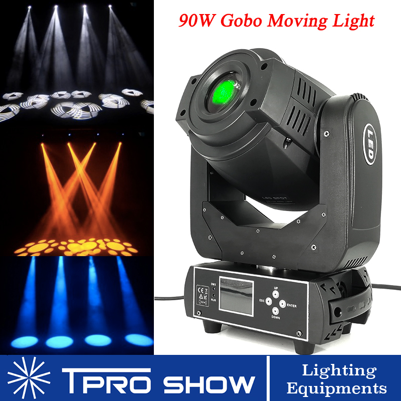 Moving Head 90W Led Light Dmx Stage Lighting Effect Spot Gobo Rotating DJ Disco Lamp Lyre Projector for Party Event Laser Show