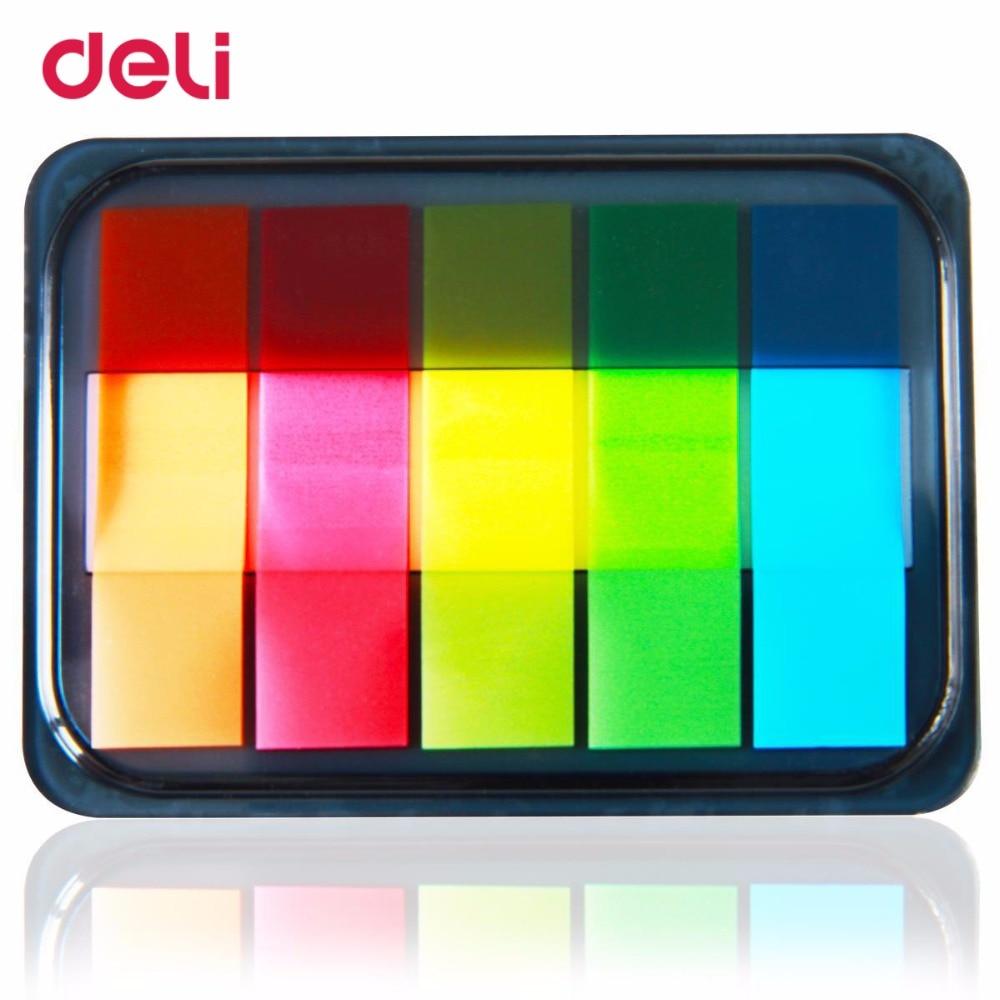 deli 9060 Berichten Stickers En Pepsi Fluorescerende Film Indicator - Notitieblokken en schrijfblokken bedrukken - Foto 1