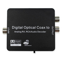 Digital To Analog Audio L R Decoder Support AC3 DTS Dolby Toslink Coaxial 3 5mm Earphone
