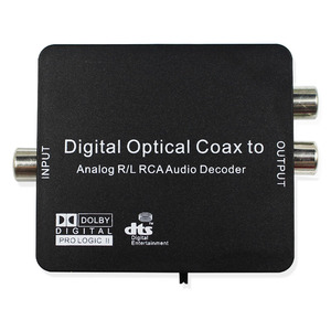 Digital To Analog Audio L R Decoder Support AC3 DTS Dolby Toslink Coaxial 3.5mm Earphone Fiber Optical Decoder Converter