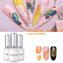 Harunouta 12ml  Blossom Nail Gel Watercolor Polish Floral Varnish Effect Bubble Decor Salon Set Smoke Manicure