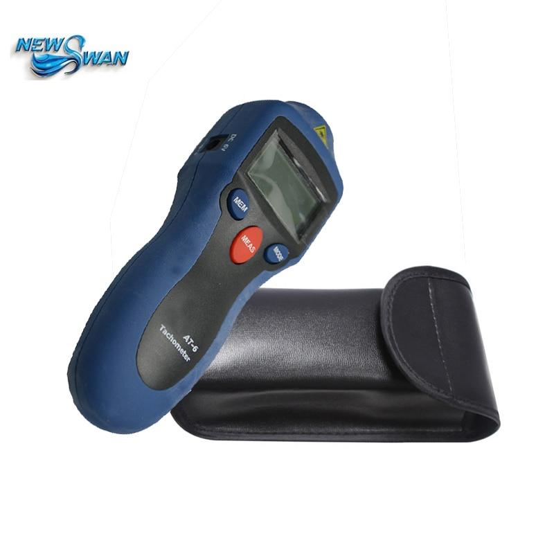Offre spéciale professionnelle AT6 poche numérique tachymètre analyseur moteur vent roue pneu tachymètre haute sensibilité Instrument de vitesse