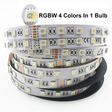 RGBW RGBWW Flexible LED Strip Lights 5m DC 24V 4 colors in 1 led SMD 5050 60leds/m RGB warm white for home holiday Decoration