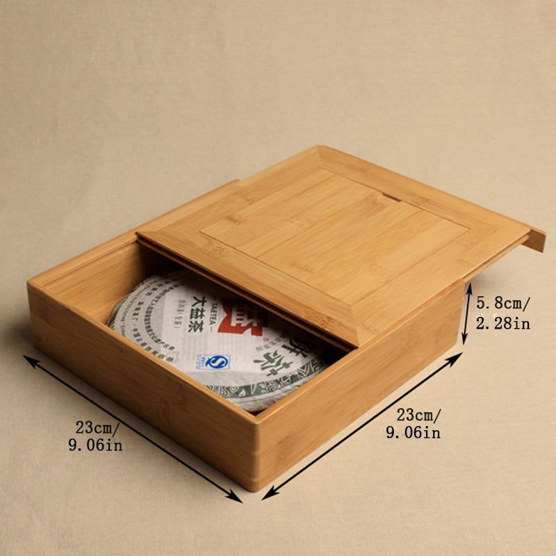 Premium Bamboo Pu-Erh Storage Gift Box Handmade 3