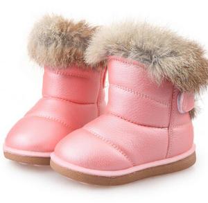 ULKNN Kids Rubber Boots Winter Snow Boots Child Baby shoe 5f9382a34017
