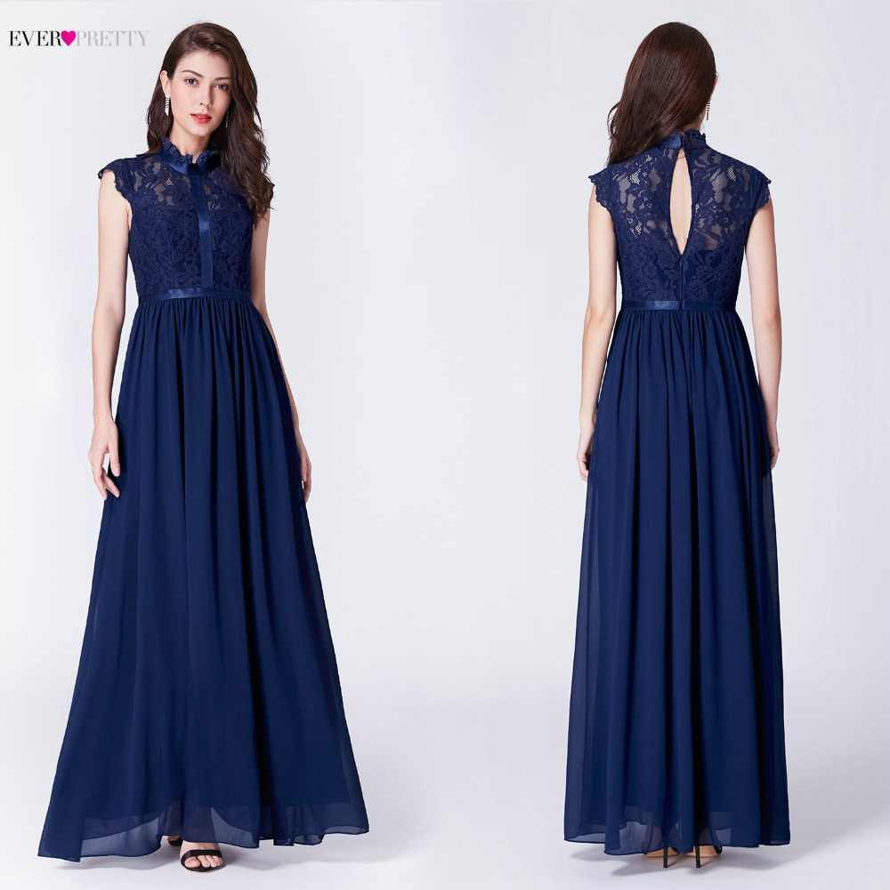 Elegant A Line Long Evening Dress 2018 Ever Pretty EP07379NB New High Neck  Sleeveless Party Gown 5997be423d15