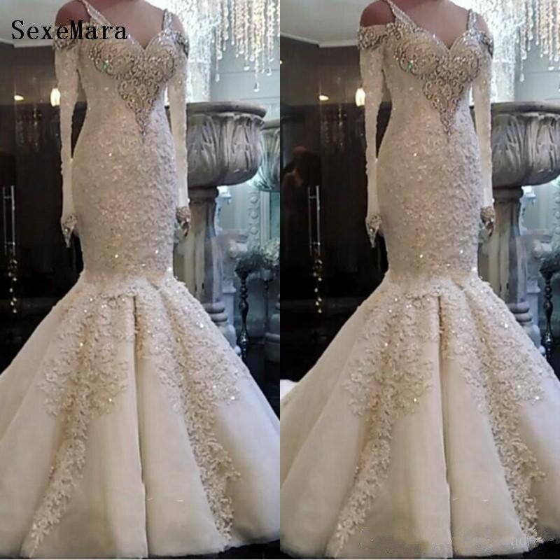 new-arrival-beaded-long-sleeve-lace-mermaid-wedding-dresses-2019-plus-size-custom-made-wedding-bridal-gowns-ba9986