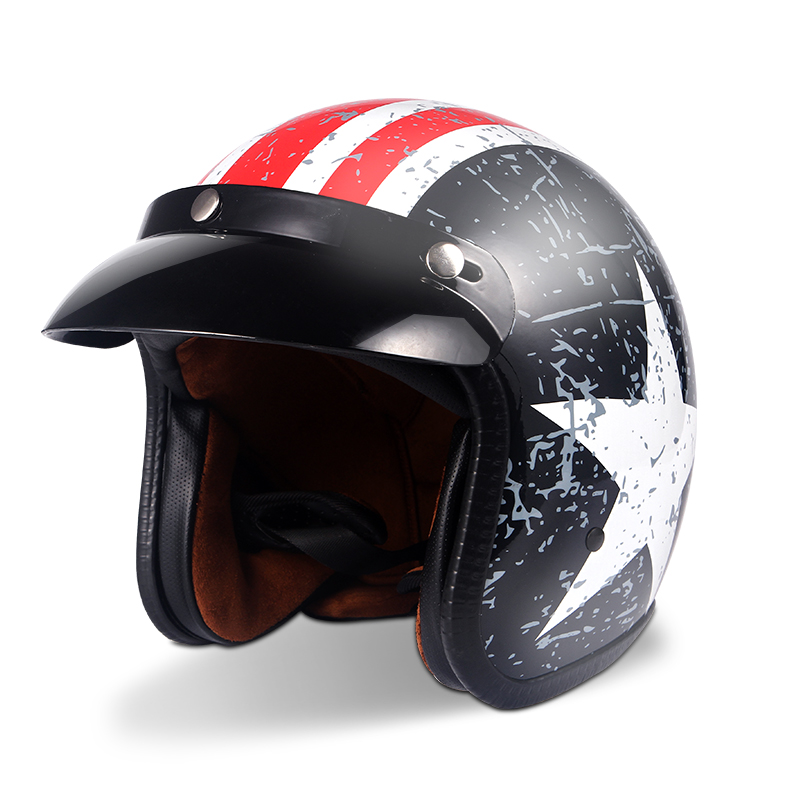 Helmets for Cross country Motorcycles Sunscreen Locomotives Half helmets Four season Electric Vehicle Safety Helmet-in Helmets from Automobiles & Motorcycles