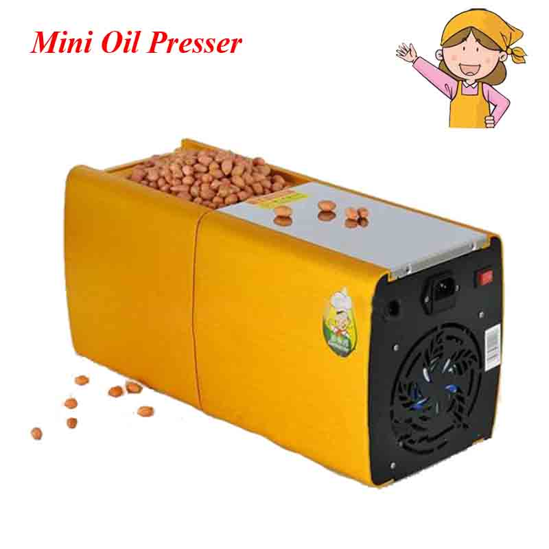 1pc 200W 220V Mini Oil Press Machine Olive Peanut Oil Pressing Presser with English Manual HF-04 automatic mini oil press machine squeeze peanut oil pressing machine peanut sesame nuts corn oil machine hf 04 200w 220v 1pc