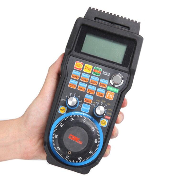 Máquina de gravura controle remoto volante mach3 mpg usb sem fio roda de mão para cnc 3 eixos 4 eixo controlador fresadora