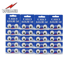 40pcs/4pack Wama AG4 LR626 377 1.5V Alkaline Button Cell Coin Battery Disposable Calculator Toys tianqiu ag4 lr626 377 1 55v alkaline cell button battery silver 10 pcs