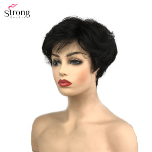 Image 5 - StrongBeauty Synthetic Wig Short Curly Hair Black/White Wigs Womens