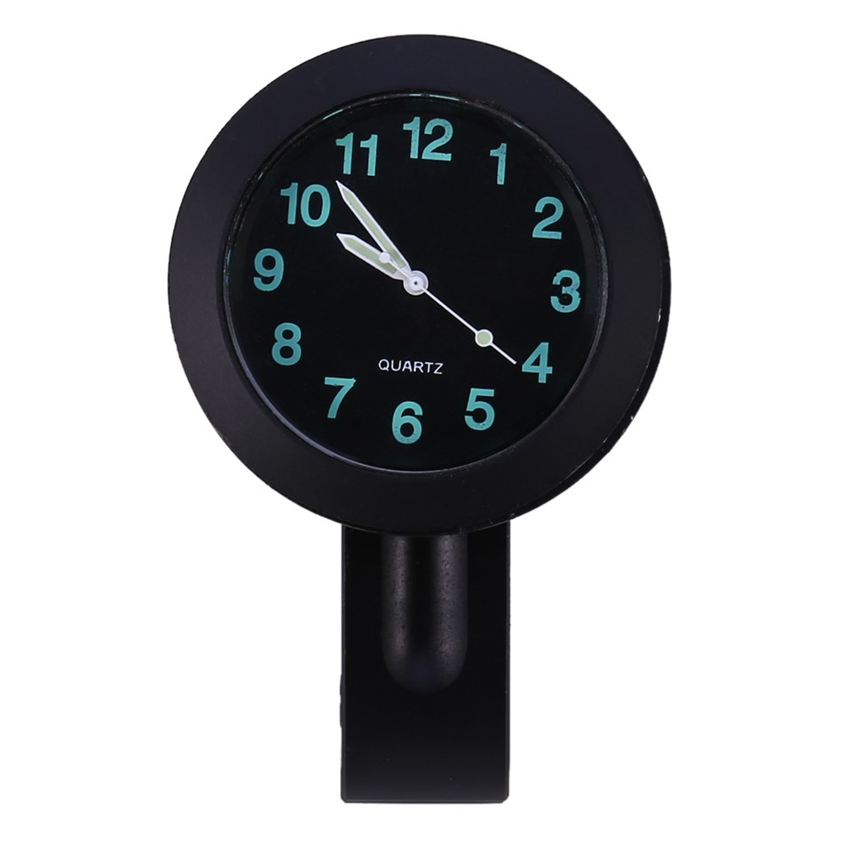 7/8 Motorcycle Accessory Handlebar Mount Clock Watch Universal Black