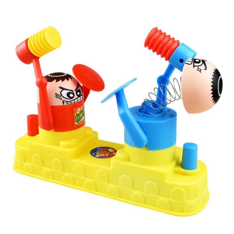 Double Battle Table Board Games For Children Parent-child Interaction Desktop Game Hammer Robot Stress Relief Family Toys