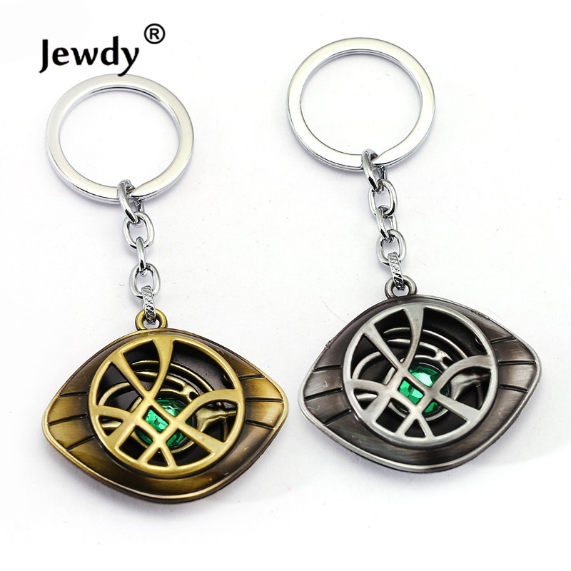 Doctor Strange keychains Dr.Strange Steve Cosplay 9*7cm Agamotto eye Pendent keychains Genuine movies Jewelry fashion Gift high quantity dr doctor strange bronze pendant eye of agamotto necklace cosplay props marvel dc movie