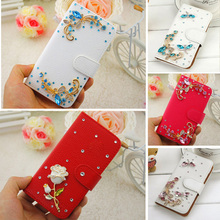 For Lenovo a536 case for lenovo a536 cover Rhinestone luxury flip leather case for lenovo a536 a 536 a358t phone bags cases 5.0″