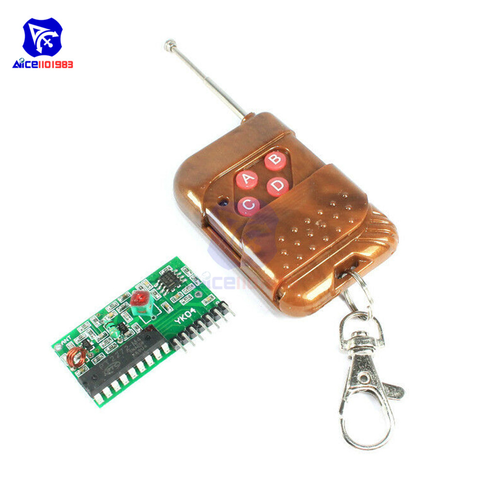 2262/2272 4 Channel 433MHz Wireless Decoding <font><b>Receiver</b></font> <font><b>Module</b></font> with 4 <font><b>Keys</b></font> <font><b>Remote</b></font> Control Kit for Arduino image