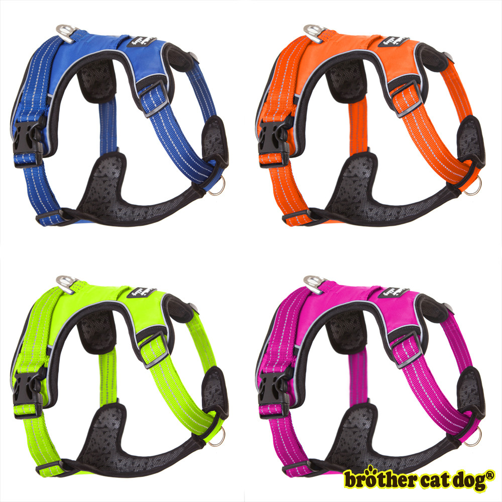 New Arrival Strong Dog Harness For Dogs Training Vest Medium Big Dogs Adjustable Outdoor Protective Harness Pitbull S-XL 8815 dog catches something