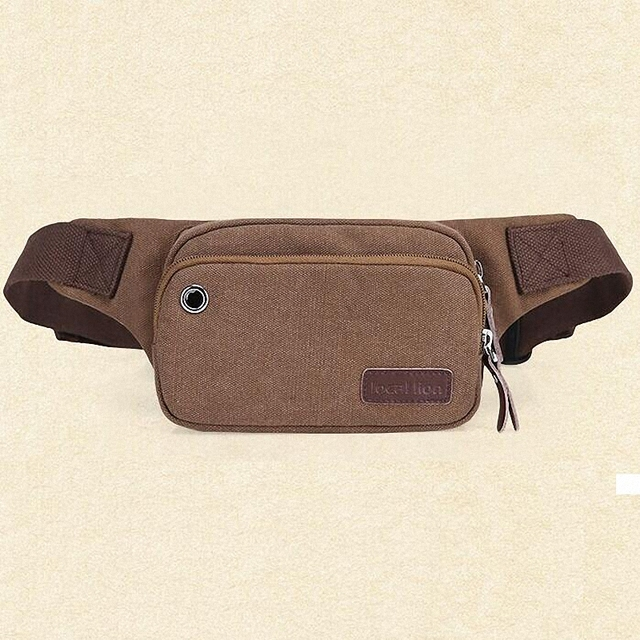 2016 Canvas Waist Packs Man women Vintage waist Bag Pouch Money Belt Fashion Men Pack Durable LI-1135
