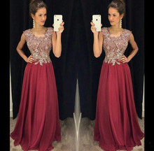 Bling Mother of the Bride Dresses 2019 vestido de madrinha Beads Chiffon Formal Evening Gown Custom sleeve robe soiree